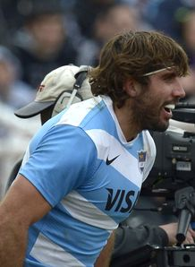 Argentina s Los Pumas number 8 Juan Martin Fernandez Lobbe