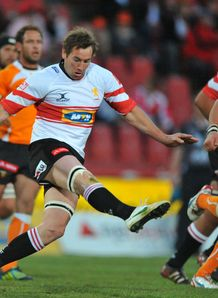 Butch James kicking for Golden Lions