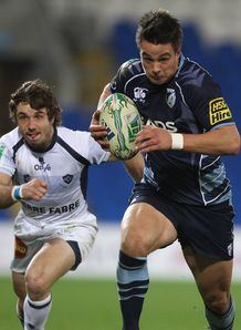 Chris Czekaj in action for Cardiff Blues