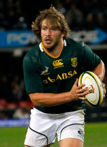 Frans Steyn with ball in hand for Springboks