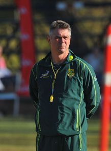 Heyneke Meyer hands behind back