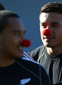 Hosea Gear and Sonny Bill Williams with red noses