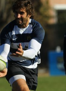 Juan Martin Fernandez Lobbe in training