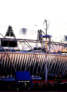 SKY_MOBILE Olympic stadium sunset London 2012