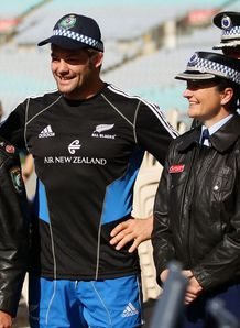 Richie McCaw as a policeman
