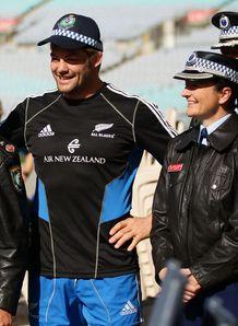 Richie McCaw as a policeman
