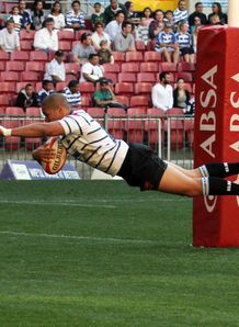 Rocco Jansen scoring for Griquas