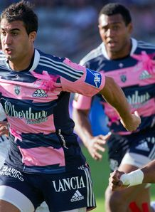 Stade Francais fullback Jerome Porical v Montpellier