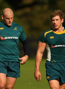 Stephen Moore and David Pocock Wallabies 2009