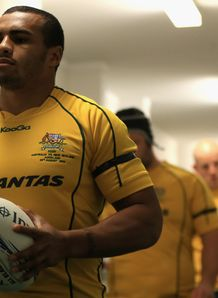 Will Genia leading out the Wallabies