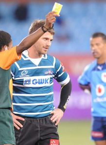 Willie le Roux Griquas v Blue Bulls yellow card