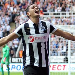 Ben Arfa: Celebrates the winner
