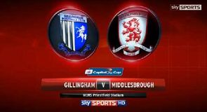 Gillingham 0-2 Middlesbrough
