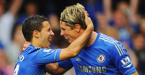 Hazard and Torres have combined to win and score Chelsea's third penalty of the season on Saturday