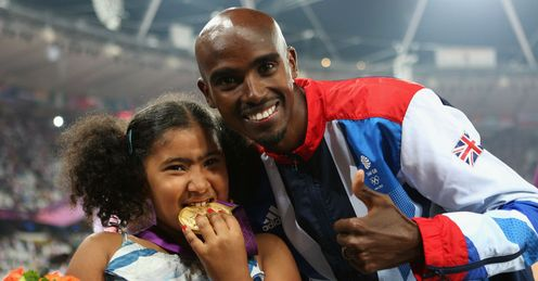 Could double Olympic champion Mo Farah - pictured with daughter Rihanna - visit your area?