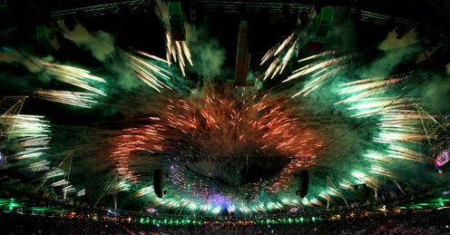 Fireworks: Even an expansive Closing Ceremony couldn't match the thrills of the sport, says Richard Moore