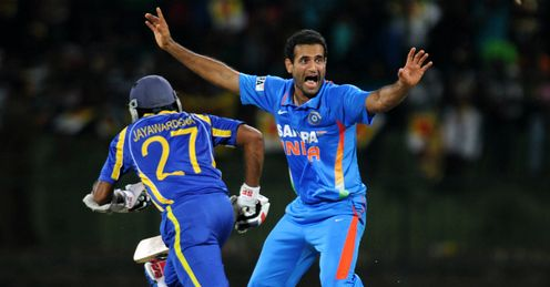 Irfan Pathan celebrates wicket of Upul Tharanga T20 India v Sri Lanka
