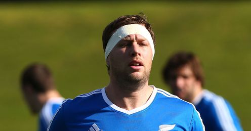 Wyatt Crockett during a New Zealand All Blacks training session
