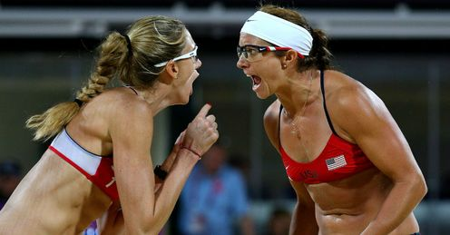 Beach volleyball joy for Team USA