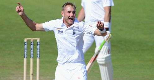 Stuart Broad England celebrating a wicket second Test Headingley