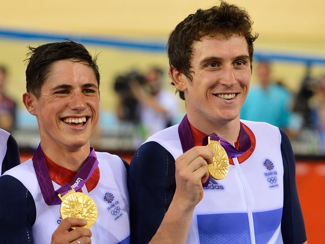 Kennaugh and Thomas all smiles on the podium
