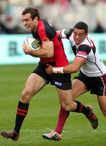 Adam Whitelock on a run for Canterbury