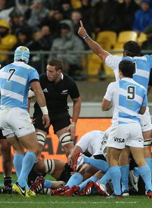 Argentina celebrate try in Wellington