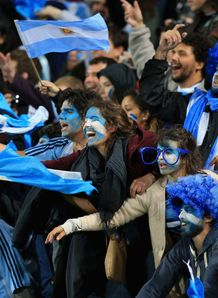 Argentina rugby fans in Wellington