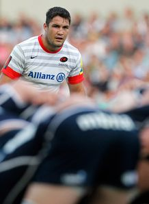 Brad Barritt in Saracens away shirt
