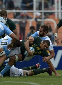 Bryan Habana held by Alvaro Galindo