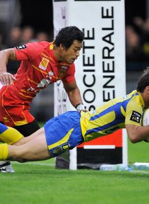 Clermont Morgan Parra R try Perpignan Lifeimi Mafi