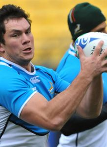 Francois Louw training with Boks at RWC 2011