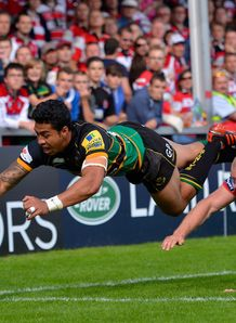 George Pisi try Northampton v Gloucester