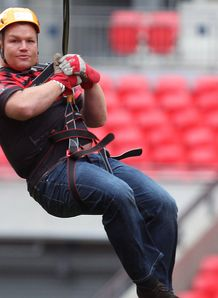 Matt Stevens Saracens Wembley Zip Wire