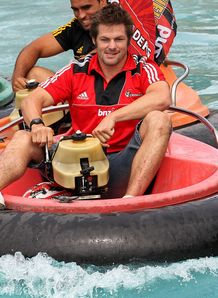 Richie McCaw Crusaders bumper boats race
