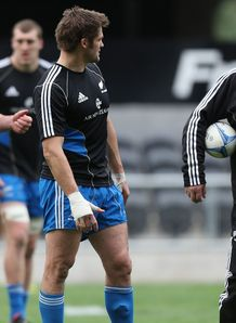 Richie McCaw talking to Steve Hansen New Zealand training session