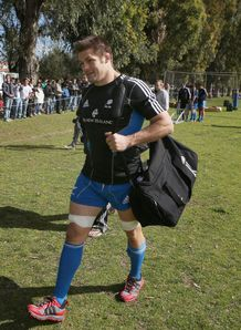 Richie McCaw with his kitbag