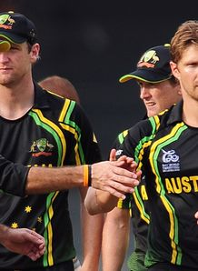 Australia captain George Bailey praises man-of-the-match Shane Watson after his heroics against Ireland.