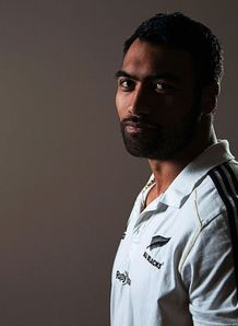 Victor Vito poses during a New Zealand All Blacks media session
