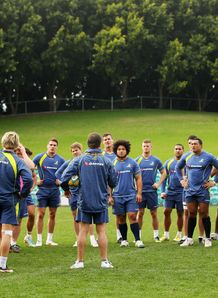 Wallabies training circle