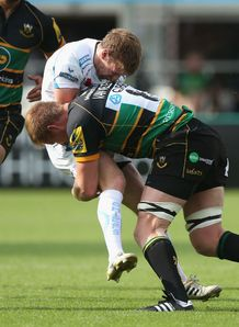 Will Chudley Gj van Velze Northampton v Exeter