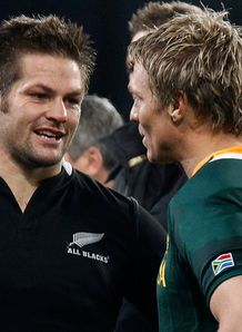 SKY_MOBILE Richie McCaw and Jean de Villiers New Zealand South Africa