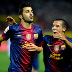 Villa (L): On target for Barca
