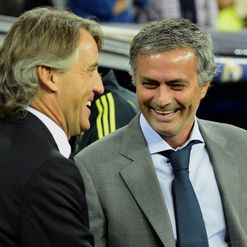 Mancini (L): Butt of Jose's joke?