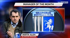 Allen named League 2 Manager of the Month