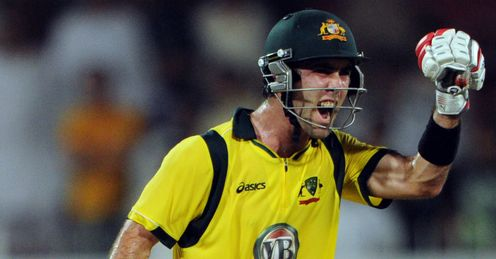 Glenn Maxwell Pakistan v Australia 3rd ODI 2012