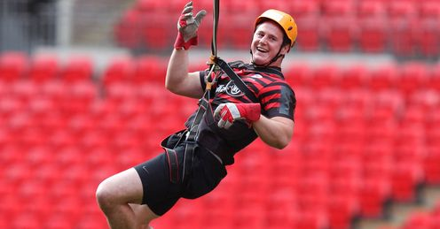 Andy Saul Saracens Wembley Zip Wire
