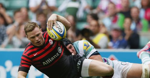 Chris Ashton try Saracens London Irish