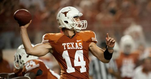 Texas quarterback Ash put in a solid performance against Wyoming