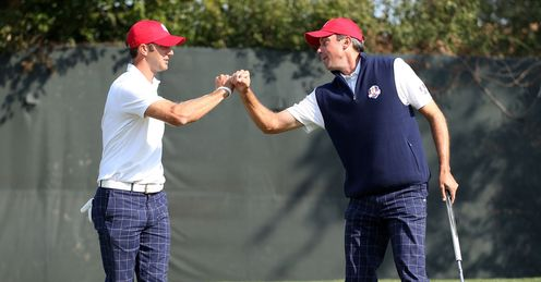 Dustin Johnson Matt Kuchar Ryder Cup day one fourballs